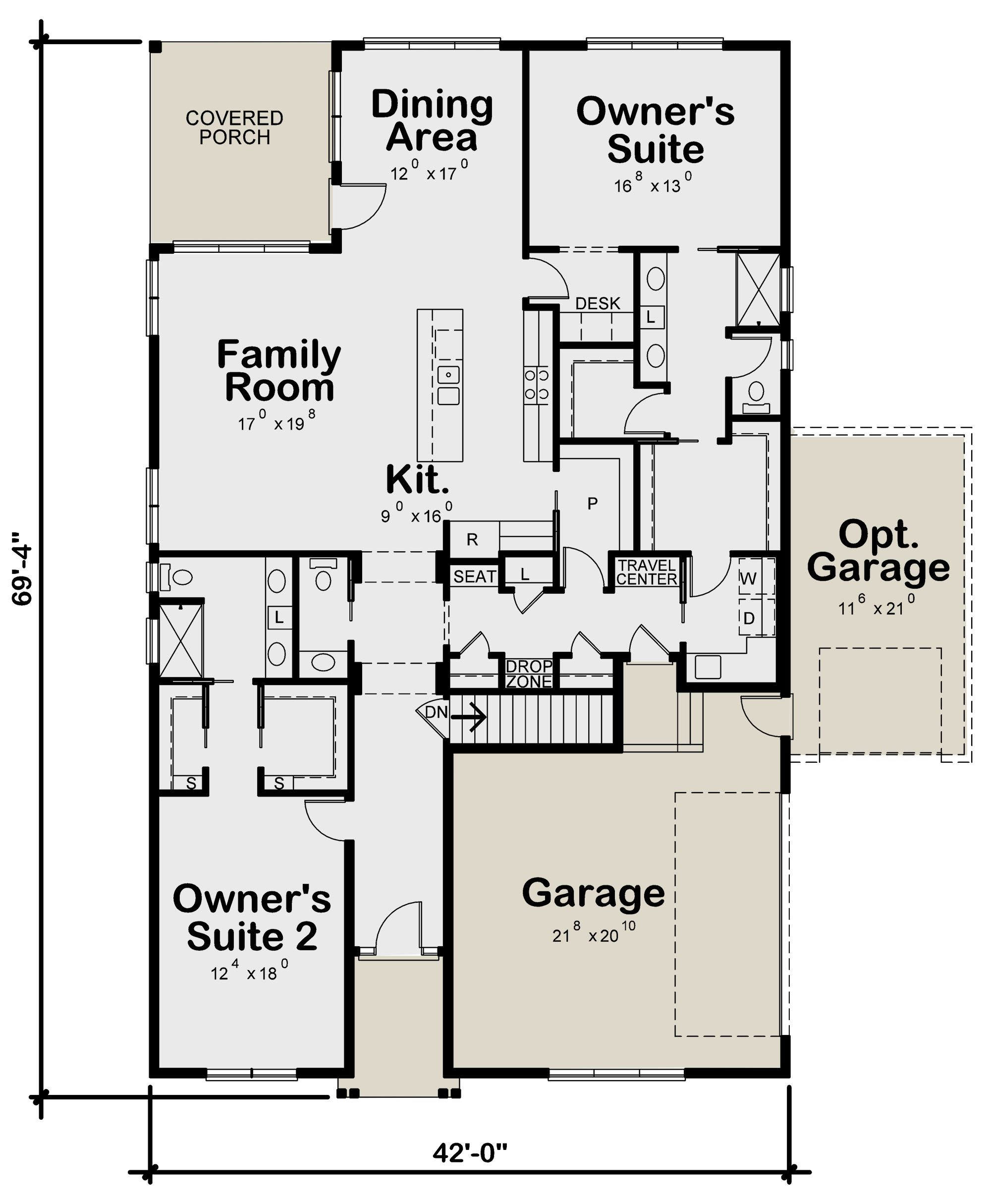 House Plan 402 01603 Ranch Plan 2 120 Square Feet 2 Bedrooms