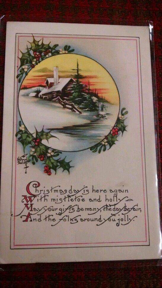 Vintage Christmas Postcard Free Shipping in Collectibles | eBay