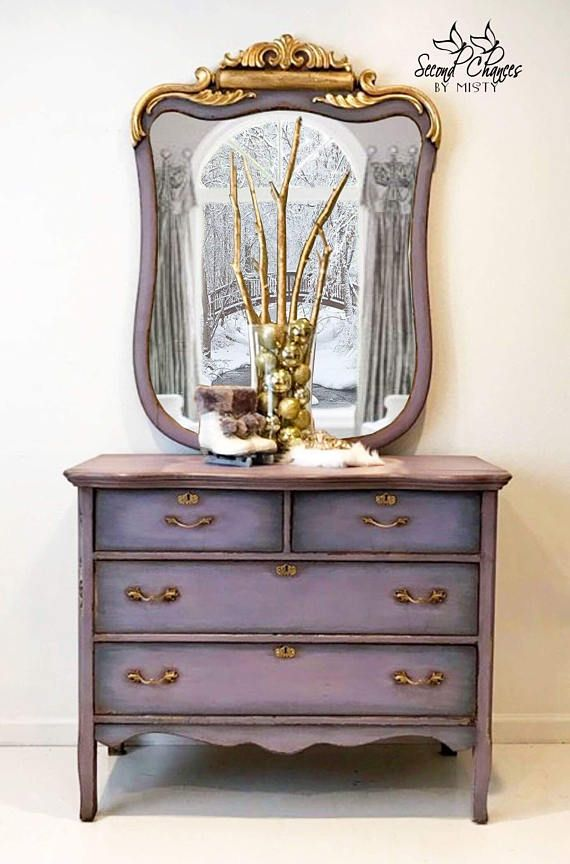 SOLD-custom finish available -- Antique Dresser with Mirror ...