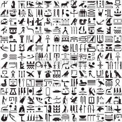 Cuadro en Lienzo Ancient jeroglíficos egipcios • Pixers
