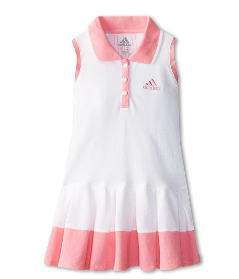 bbe45c21041 adidas Kids Box Pleat Polo Dress (Toddler/Little Kids) | Fashion for ...