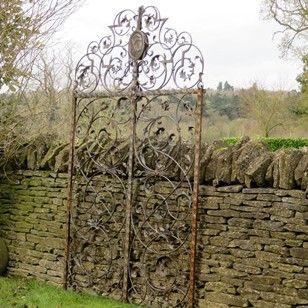 A Pair Of Very Fine Italian Antique Garden Gates   Decorative Collective