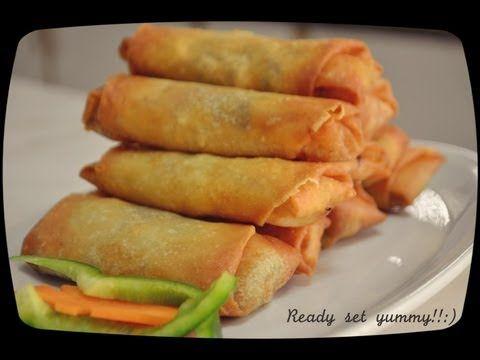 Vegetable Spring Rolls سبرينغ رول بالخضار Vegetable Spring Rolls Appetizer Recipes Chicken Spring Rolls