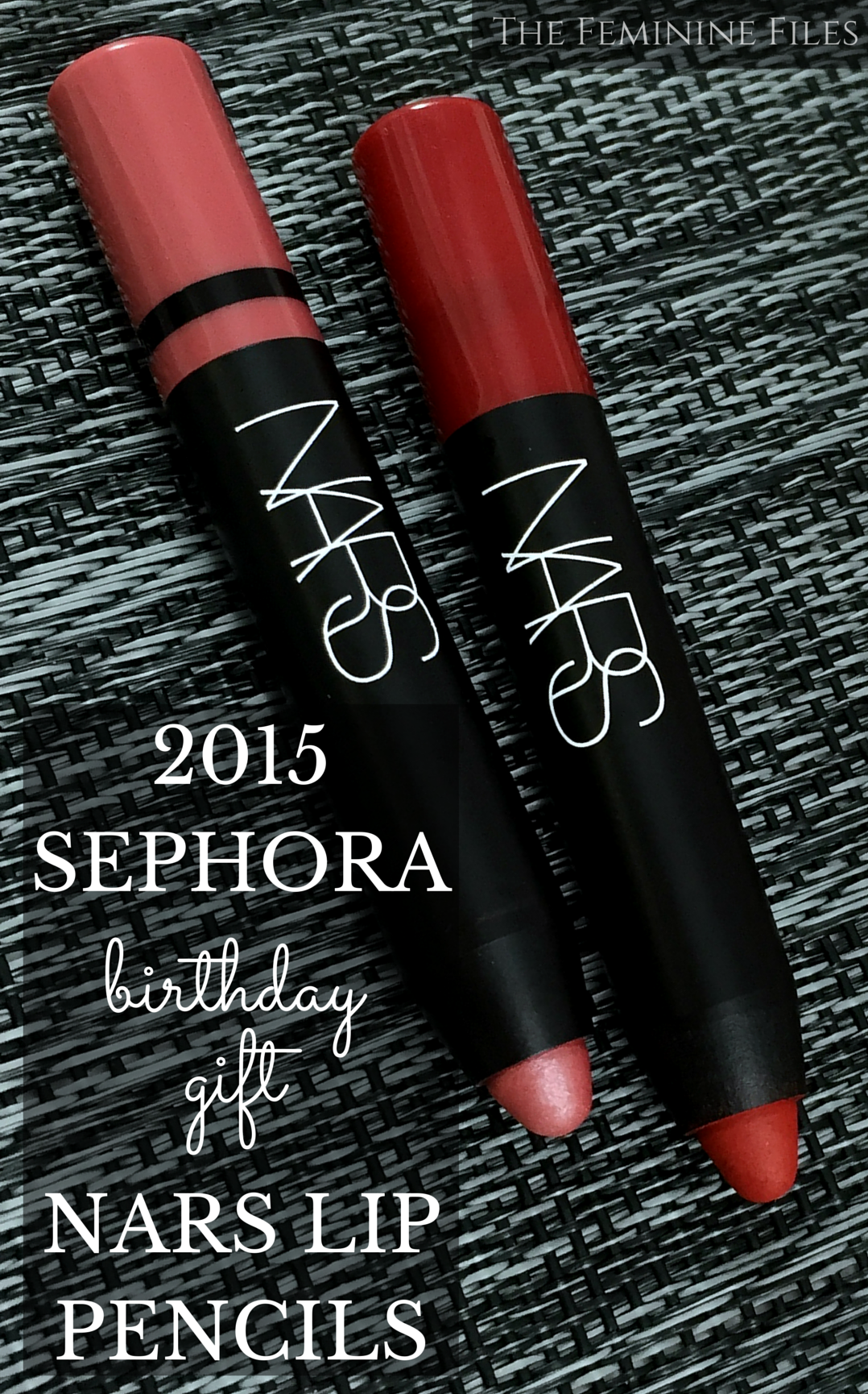2015 Sephora Birthday Gift NARS Lip Pencils In Rikugien And Cruella Swatched Reviewed