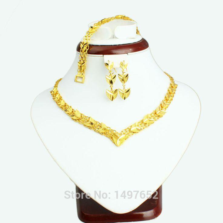 2017 Newest Dubai gold jewellery set Gold Plated Turkish Egyptian