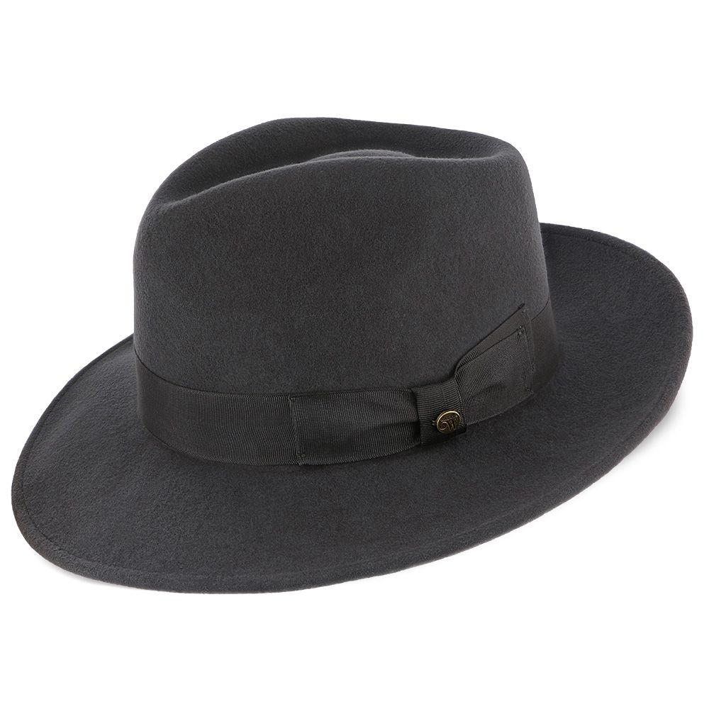 ba77aed3924 Imperial - Walrus Hats White Center Dent Wool Felt Fedora Hat ...