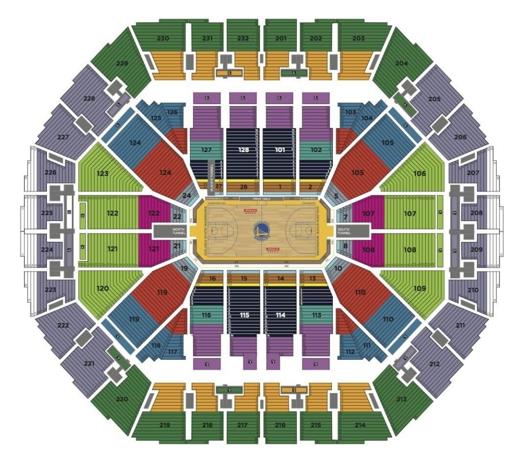 Oracle Arena Seating Chart Seating Charts Talking Stick Resort Arena Game Arena
