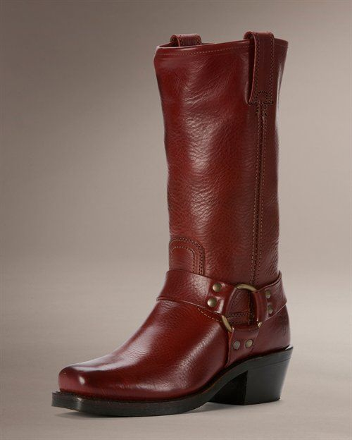 Frye Harness 12R in Burnt Red. Saw these at a store today - 30% off