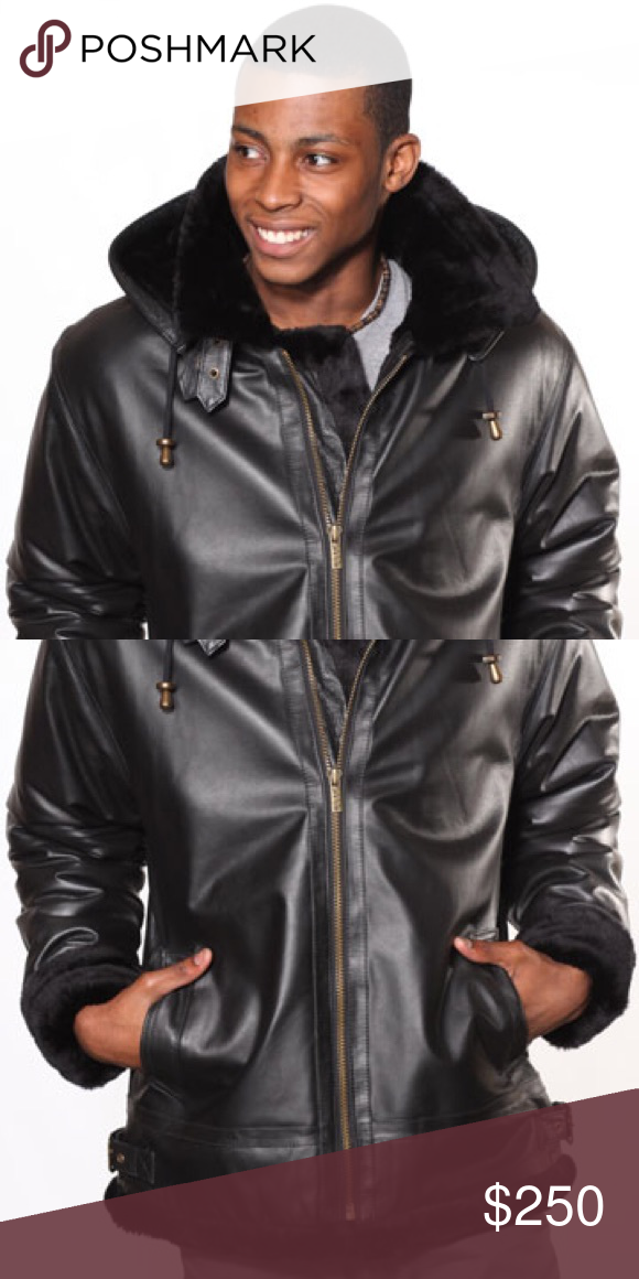 6951e977a6ea I just added this listing on Poshmark: Men's Leather Coat With Black Fur  Remove zipper. #shopmycloset #poshmark #fashion #shopping #style #forsale  #Other