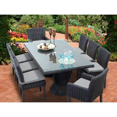 Tk Classics Venice 8 Piece Outdoor Patio Dining Set With Cushion