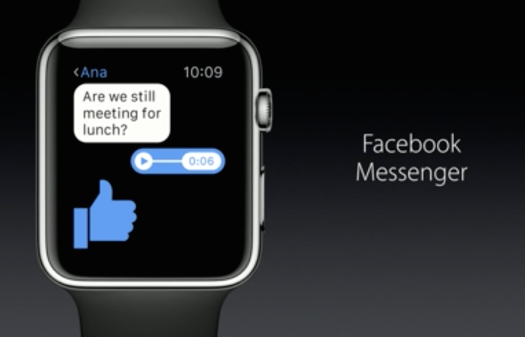 Facebook Messenger Comes To Apple Watch With Audio