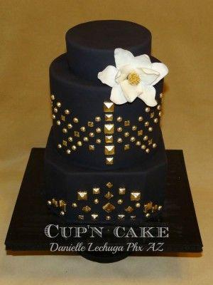 Gold studded cake