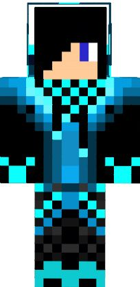 Boy With Black Hair With A Black And Blue Jacket Scarf Headphones And Shoes A Minecraft Skin Gambar