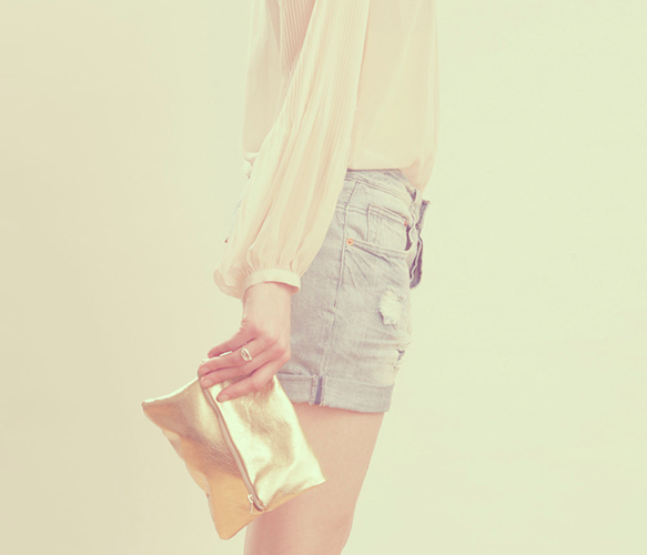 Metallic Gold Pouch  by Grace Design