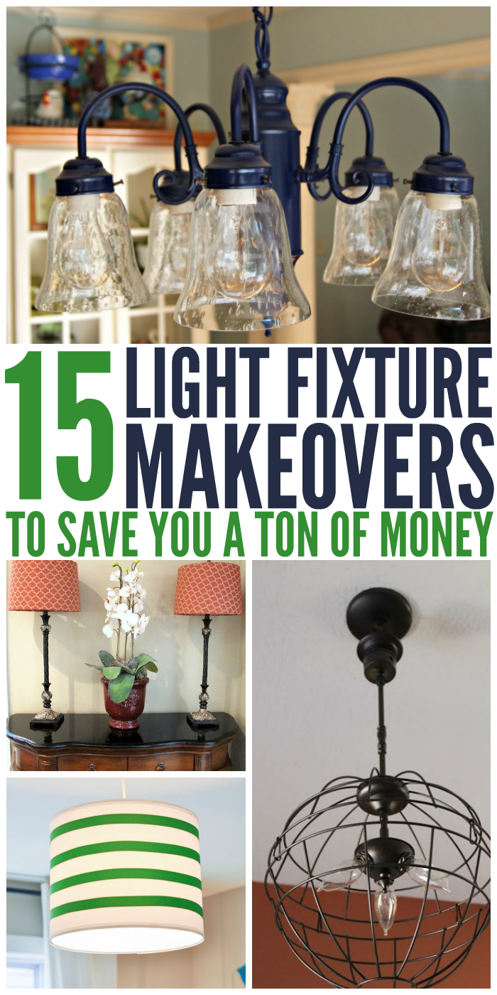 15 Light Fixture Makeovers To Save You A Ton Of Money Cheap Light Fixtures Light Fixture Makeover Painting Light Fixtures