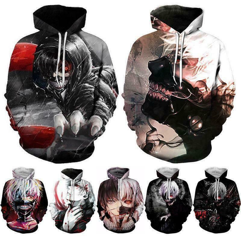 Anime 3D Print Mens Womens Hoodie Sweater Sweatshirt Jacket Pullover Tops
