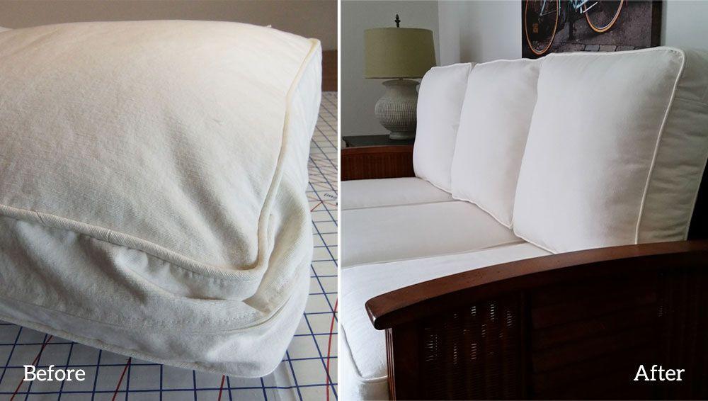 Diy Cushion Refresh For Your Sofa And Armchair Cushions On Sofa Couch Upholstery Diy Cushion