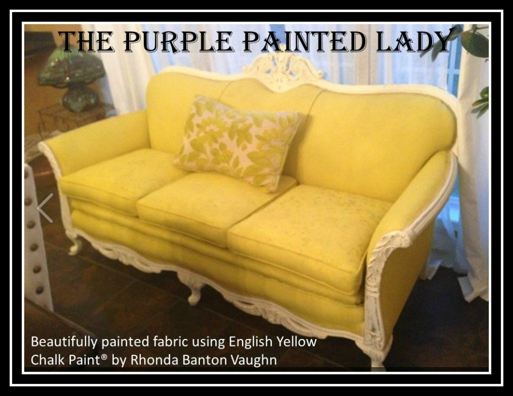 Annie sloan chalk painted fabric chairs by bella tucker decorative - How To Painting Upholstery With Chalk Paint Decorative Paint By Annie Sloan The Purple Painted Lady Painted Chalk Paint Fabric Couch Rhonda Banton Vaughn