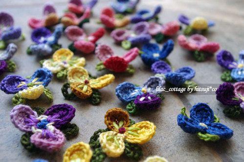 すみれのモチーフの作り方|編み物|編み物・手芸 ...