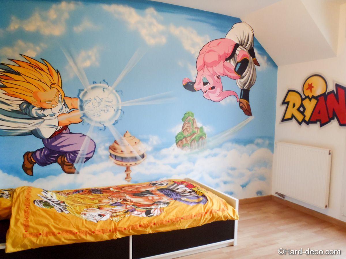 fresque dragon ball z jpg  1200 900. dragon ball queen size  Dragon ball Z bedroom set  Dragon ball Z