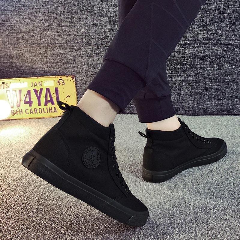 Black canvas shoes, Mens canvas shoes