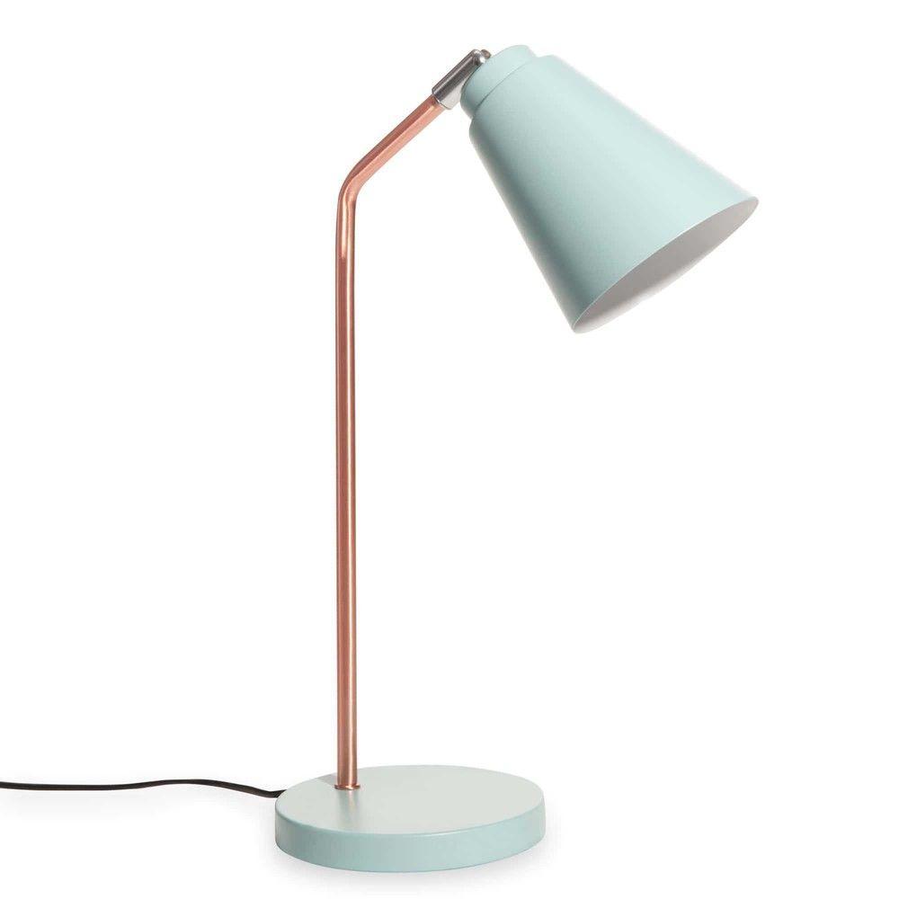 Jessie Copper Coloured Metal And Desk Lamp Blue Desk Room Lamp