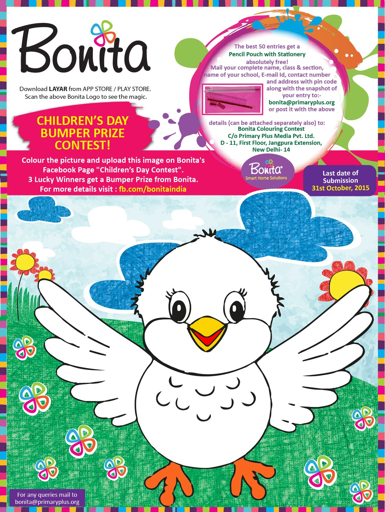 Bonita Coloring contest for kids !! ‪#‎kids‬ ‪#‎color ...