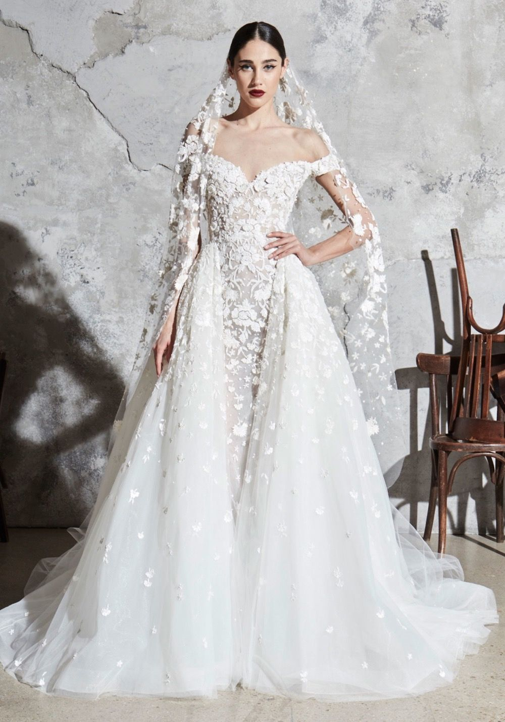 Zuhair Murad Spring 2020 Bridal Fabia Wedding Dress Wedding