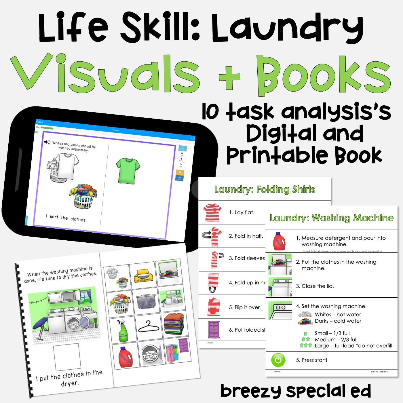 Laundry Taskysis And Interactive Book Print And