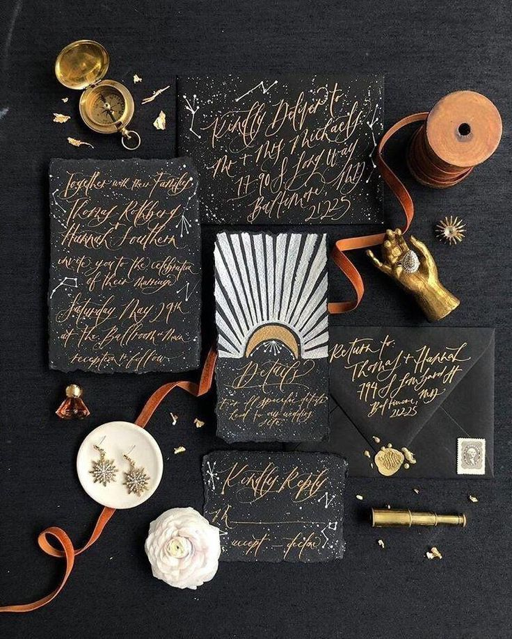Celestial Wedding Invitation Suite  Handmade Wedding | Etsy