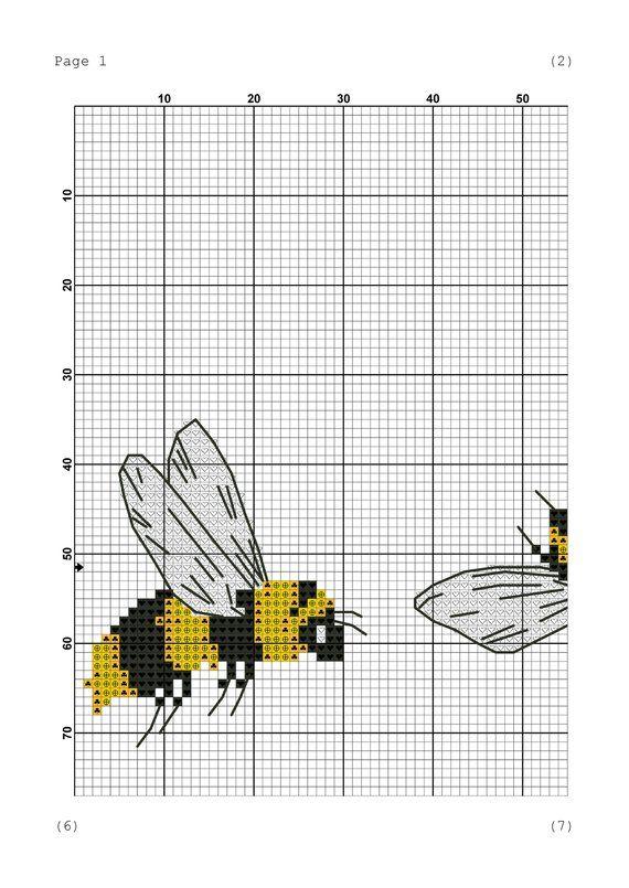 Photo of Bee crazy cross stitch pattern Bee pdf pattern Animal cross stitch Insect cross stitch pdf Cute cross stitch design Counted cross stitch