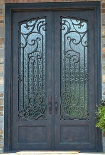 sweet house front double door design. Beautiful custom wrought iron double entry door  Home sweet