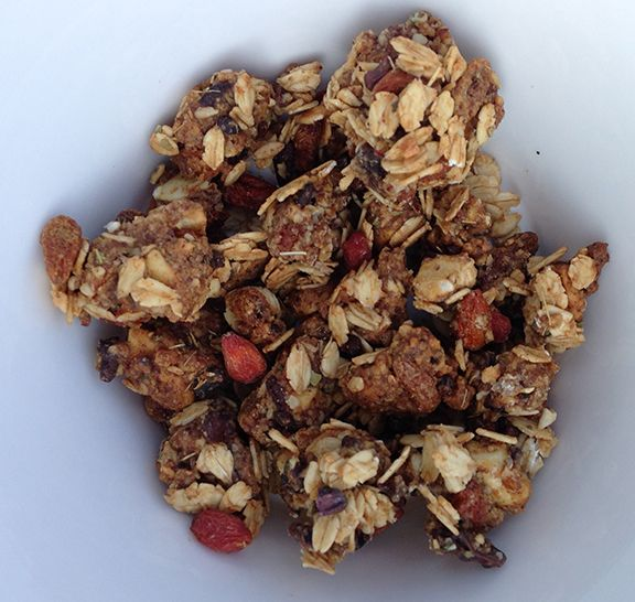 Homemade Gluten Free Goji Berry Granola