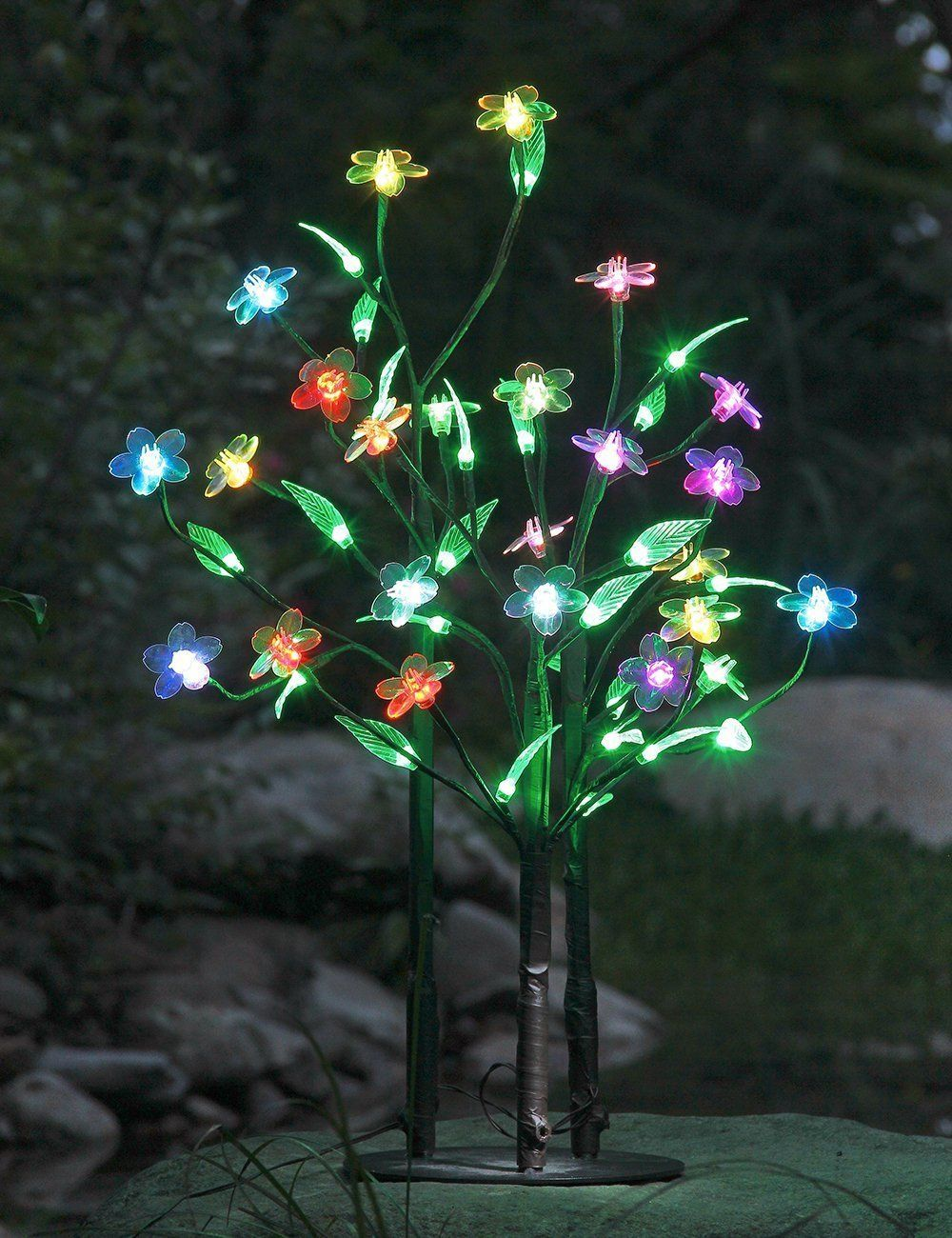 Amazon.com: Lightshare 5Ft 96LED Dimmable Color Flower Tree Light ...