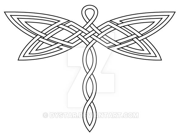 Celtic Knot Dragonfly 2 Revis By Dystar Deviantart Com On