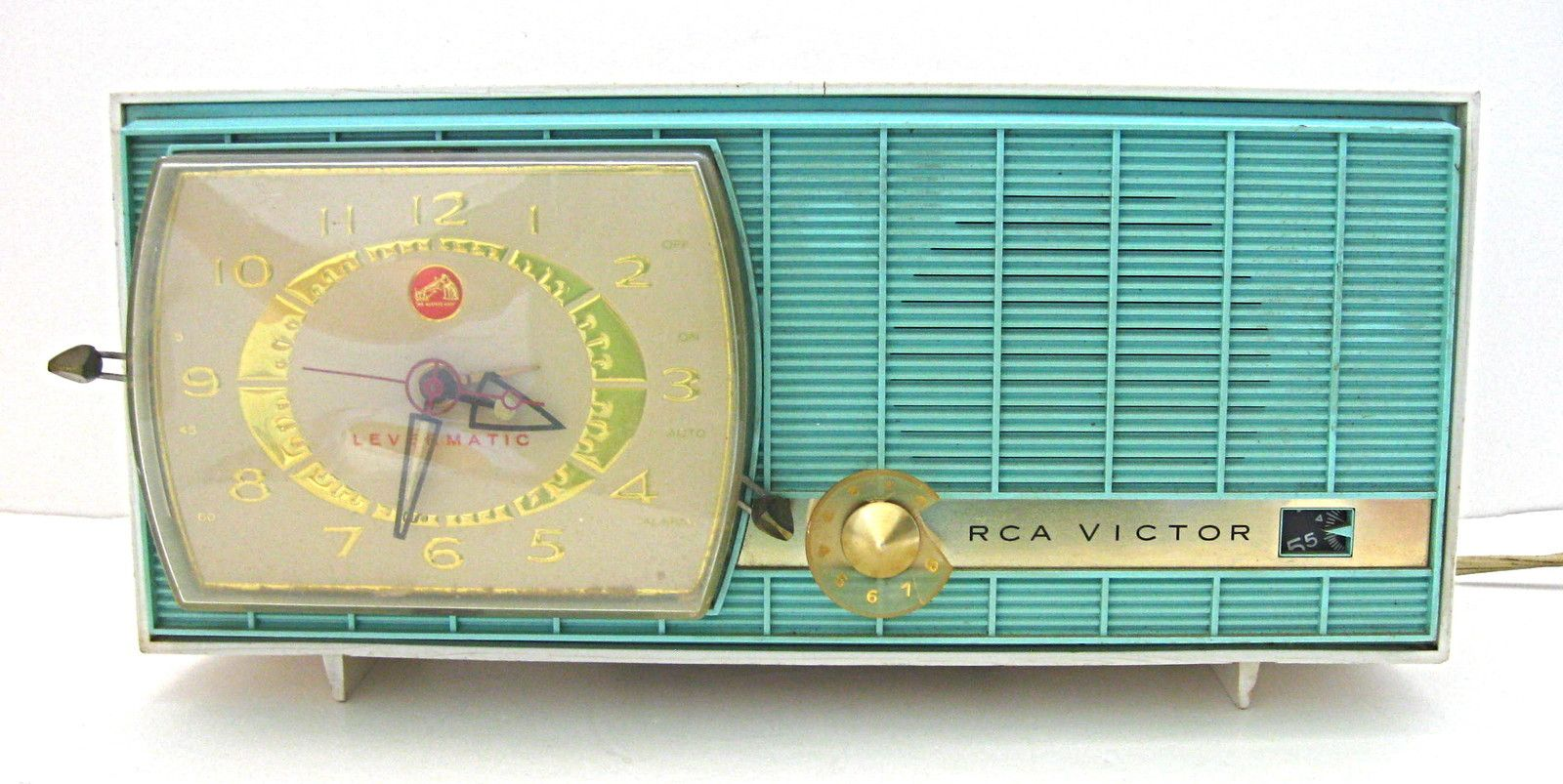Vintage 1950's turquoise white RCA Victor Levermatic AM ...