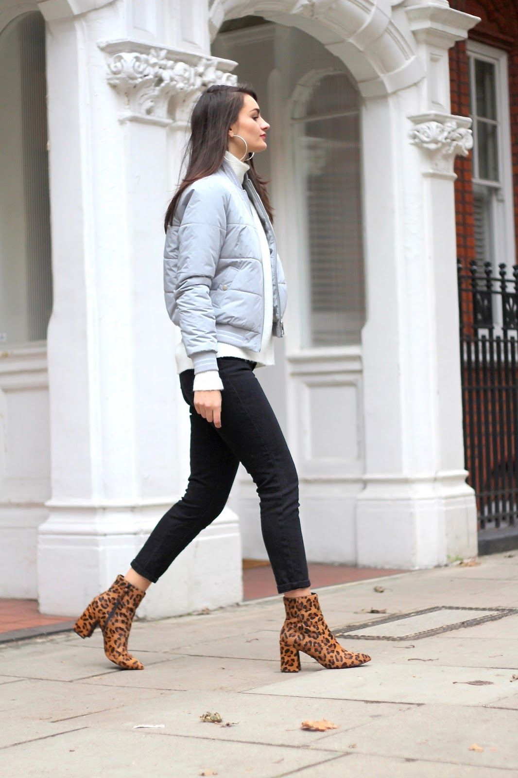 46781d4f2e82 ankle boots asos autumn boots farleigh fashion jacket jeans jumper leopard  print lipsy missguided mom jeans puffer jacket roll neck topshop