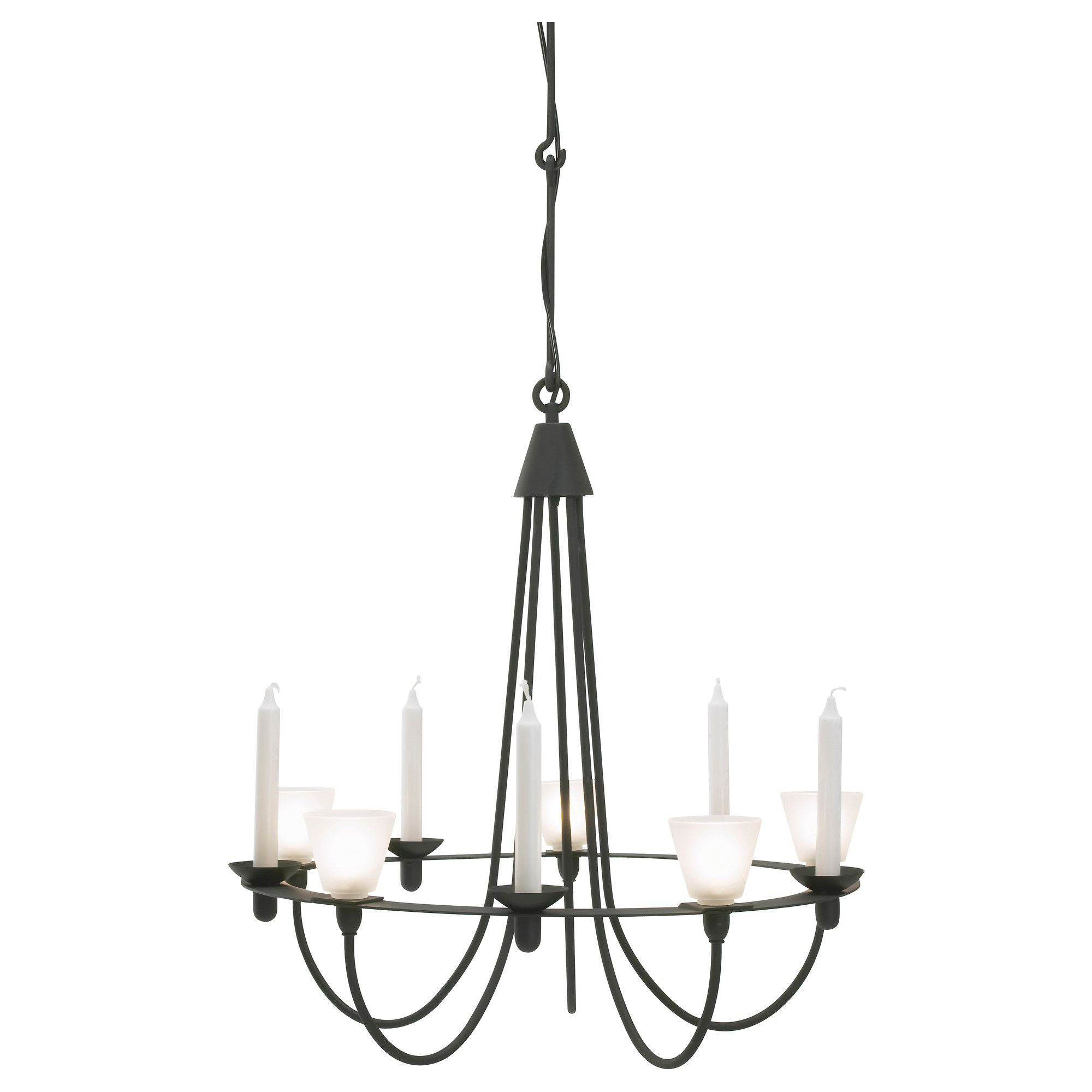 Lerdal chandelier ikea can be used with both electric lights and lerdal chandelier ikea can be used with both electric lights and candles easy to adjust the height with the hooks aloadofball Choice Image