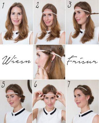 Lange haare haarband frisur