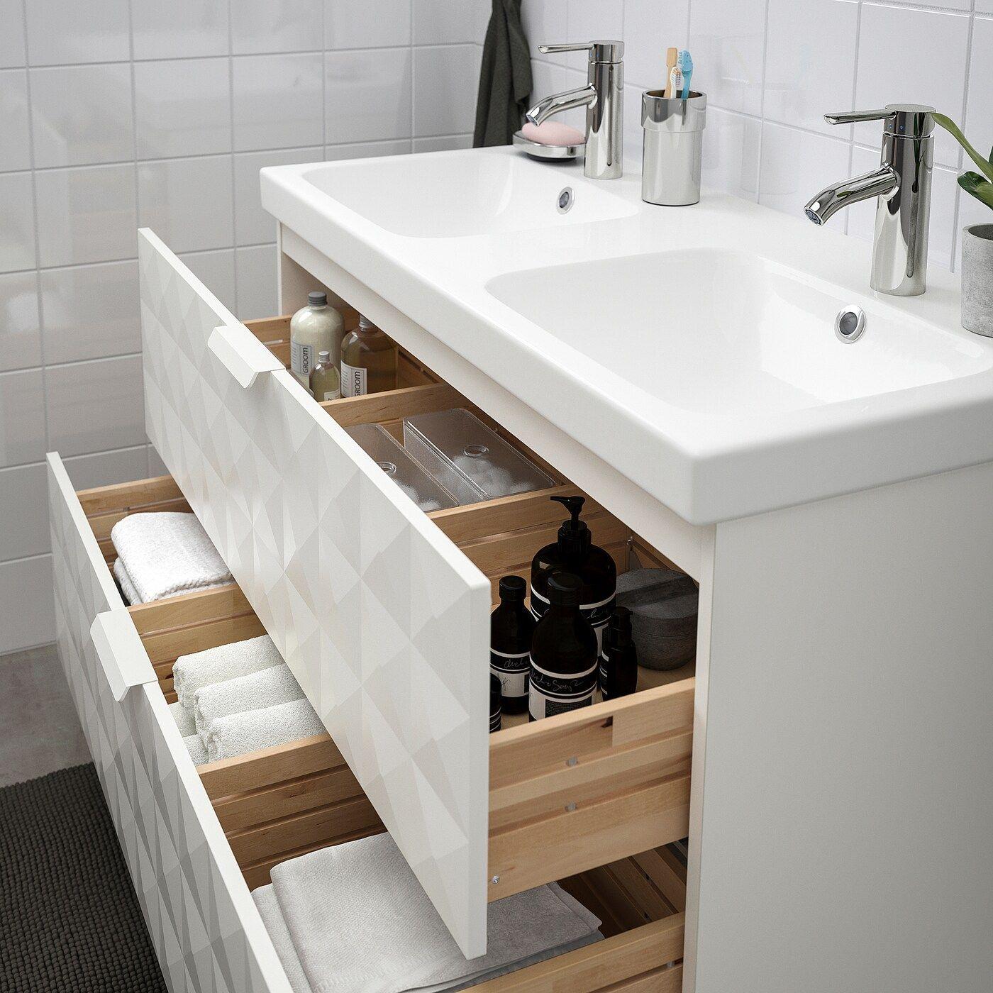 Godmorgon Odensvik Bathroom Vanity Resjon White Dalskar