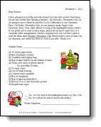 Holiday Materials Letter