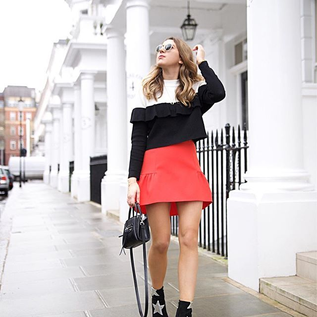 Hump day feels ❤️❤️ You can shop all of my outfits including this amazing red skirt by simply registering your email with @liketoknow.it just like this photo or any with a #liketkit hashtag and you'll receive an email within minutes with links to shop all the items I'm wearing  Or you can copy the following link into your browser now for full outfit details: http://liketk.it/2qlms : @payalmanohar