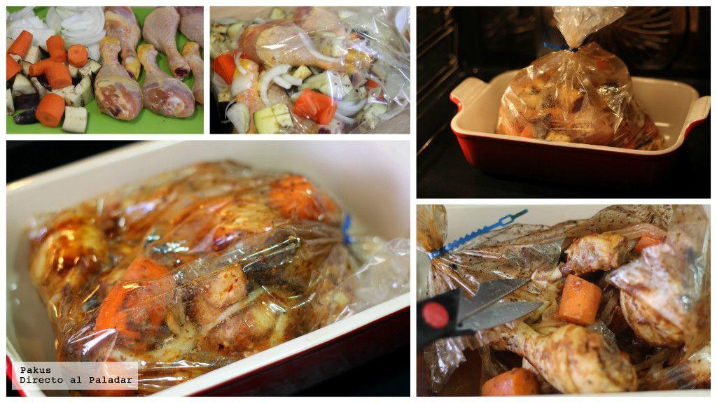 Muslos De Pollo Al Horno En Bolsa De Asar Receta Muslos De Pollo Al Horno Muslos De Pollo Recetas Con Carne