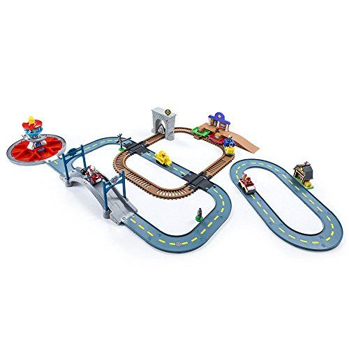 The Paw Patrol Is On A Roll With The Mega Roll Patrol Track Set This Set Includes 3 Roll Patrol Track Sets Rocky Paw Patrol Paw Patrol Toys Paw Patrol Rocky