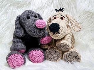 Ravelry Haken Gratis Patroon Hond Theo Tatze Knuffel Speelgoed