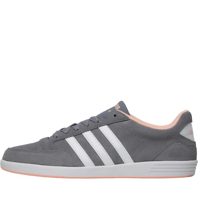 36365c69b2566 adidas Neo Womens Hoops VL Trainers Grey White Light Flash Orange ...