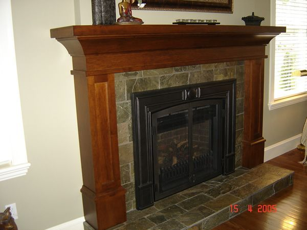 Mission style fireplace mantel adorable photography for Craftsman fireplaces photos