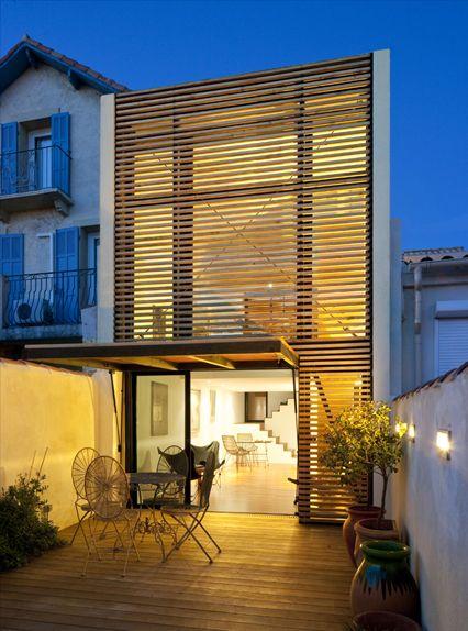 Maison bois hqe marseille architectes contemporain quatre par dix tarlet architectes