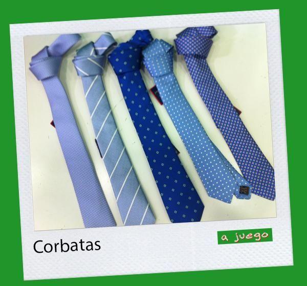 Corbatas en azules (para sus camisas blancas, celestes, verdes, lo ke sea!!)