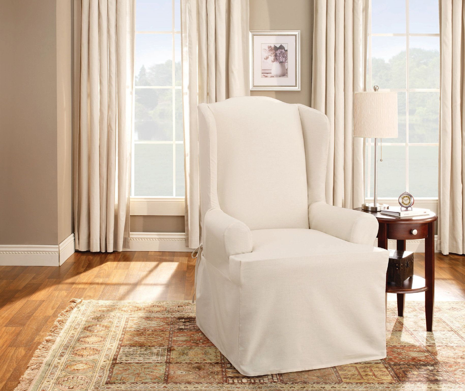 Harrison Wing Chair TCushion Slipcover Slipcovers for